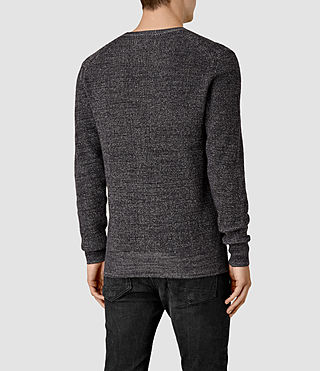 Men's Serle Crew Jumper (Cinder Black Marl) - product_image_alt_text_4