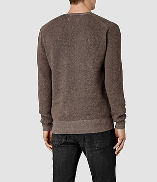 Mens Serle Crew Sweater (Washed Khaki Brown) - product_image_alt_text_3