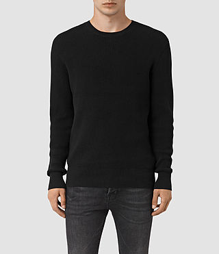 Men's Serle Crew Jumper (Black) -