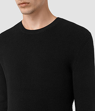 Men's Serle Crew Jumper (Black) - product_image_alt_text_2