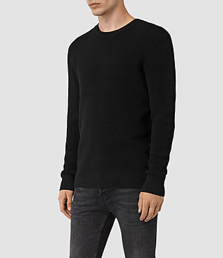 Men's Serle Crew Jumper (Black) - product_image_alt_text_3