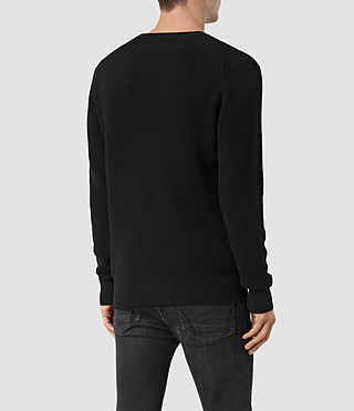 Men's Serle Crew Jumper (Black) - product_image_alt_text_4