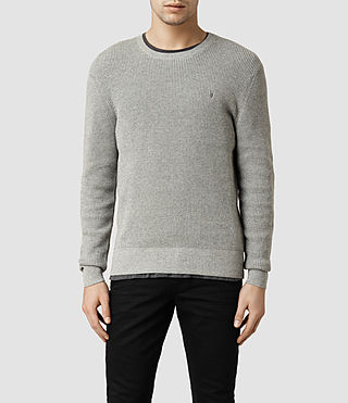 Mens Trias Crew Sweater (Grey Marl)