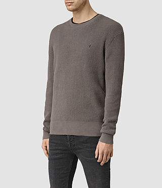 Hombres Trias Crew Jumper (Slate Grey) - product_image_alt_text_2