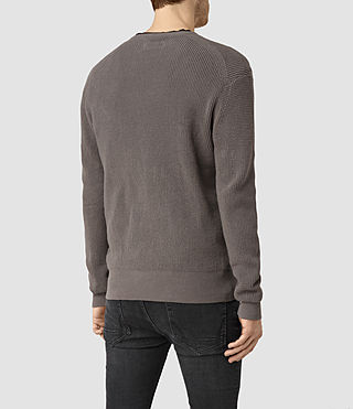 Hombres Trias Crew Jumper (Slate Grey) - product_image_alt_text_3