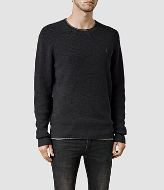 Mens Trias Crew Sweater (Cinder Marl) - product_image_alt_text_1