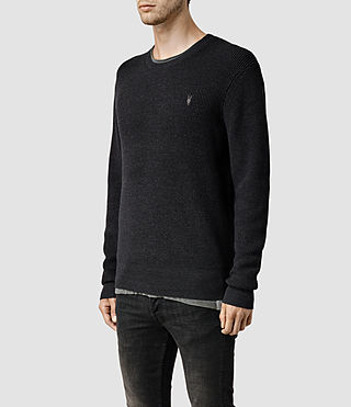 Mens Trias Crew Sweater (Cinder Marl) - product_image_alt_text_2