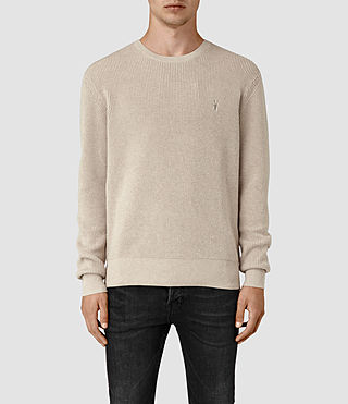 Men's Trias Crew Jumper (Taupe Marl) -
