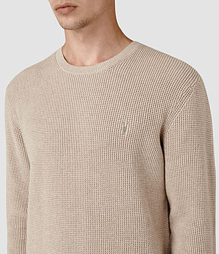 Men's Trias Crew Jumper (Taupe Marl) - product_image_alt_text_2