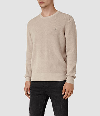 Uomo Trias Crew Jumper (Taupe Marl) - product_image_alt_text_3