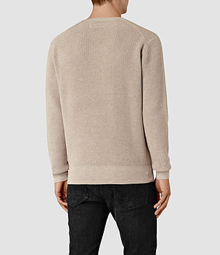 Men's Trias Crew Jumper (Taupe Marl) - product_image_alt_text_4