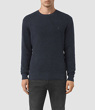Mens Trias Crew Sweater (Workers Blue)