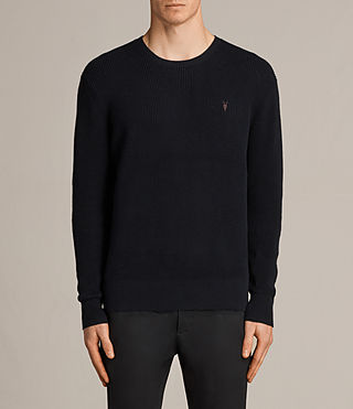 Men's Trias Crew Jumper (INK NAVY) - Image 1