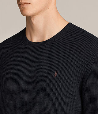 Men's Trias Crew Jumper (INK NAVY) - Image 2