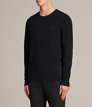 Men's Trias Crew Jumper (INK NAVY) - Image 3