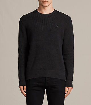 Men's Trias Crew Jumper (Cinder Black Marl) -