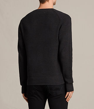 Hommes Trias Crew Jumper (Cinder Black Marl) - product_image_alt_text_3