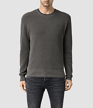 Mens Trias Crew Sweater (Cadet Green) - product_image_alt_text_1