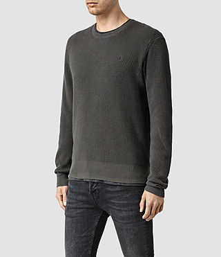 Mens Trias Crew Sweater (Cadet Green) - product_image_alt_text_2