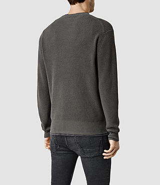Hombres Trias Crew Jumper (Cadet Green) - product_image_alt_text_3