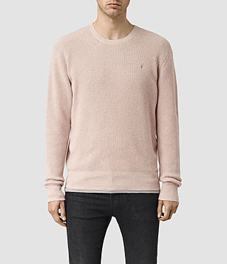 Men's Trias Crew Jumper (Sandstone Pink) -