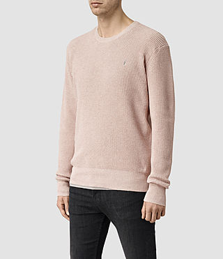 Men's Trias Crew Jumper (Sandstone Pink) - product_image_alt_text_2