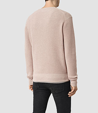 Men's Trias Crew Jumper (Sandstone Pink) - product_image_alt_text_3