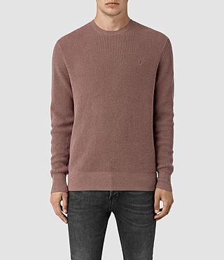Mens Trias Crew Sweater (FIG PINK MARL) - product_image_alt_text_1
