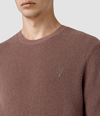 Men's Trias Crew Jumper (FIG PINK MARL) - product_image_alt_text_2