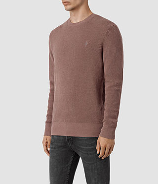 Mens Trias Crew Sweater (FIG PINK MARL) - product_image_alt_text_3