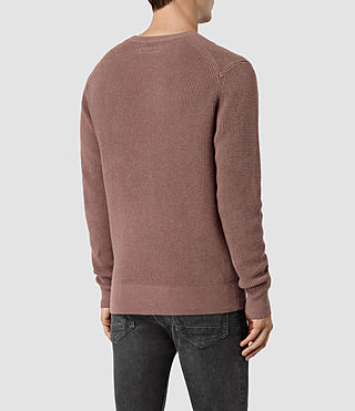 Mens Trias Crew Sweater (FIG PINK MARL) - product_image_alt_text_4