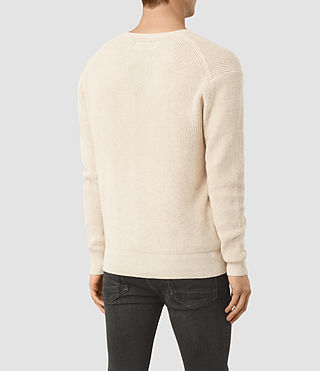 Mens Trias Crew Sweater (Ecru Taupe Marl) - product_image_alt_text_3