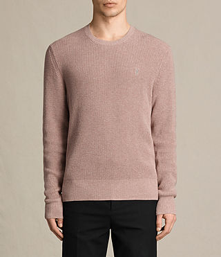 Mens Trias Crew Sweater (DUSK PINK MARL) - product_image_alt_text_1