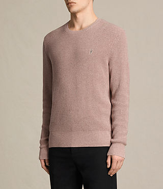 Men's Trias Crew Jumper (DUSK PINK MARL) - product_image_alt_text_3