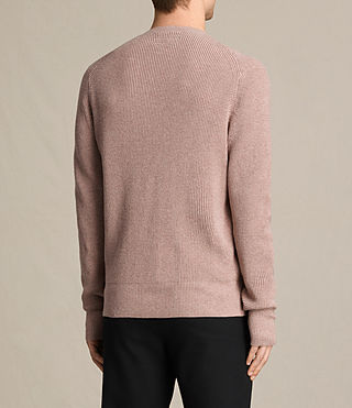 Men's Trias Crew Jumper (DUSK PINK MARL) - product_image_alt_text_4