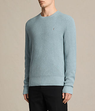 Mens Trias Crew Sweater (NORDIC BLUE MARL) - product_image_alt_text_3