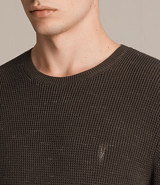 Hombres Trias Crew Jumper (OLIVE GREEN NEP) - product_image_alt_text_2