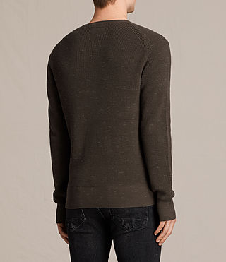 Hombres Trias Crew Jumper (OLIVE GREEN NEP) - product_image_alt_text_4