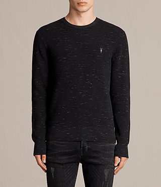 Men's Trias Crew Jumper (CINDER BLACK NEP) -