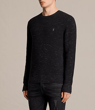 Men's Trias Crew Jumper (CINDER BLACK NEP) - product_image_alt_text_3