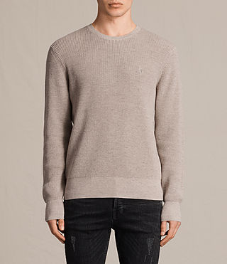 Mens Trias Crew Jumper (TAUPE MARL NEP) - product_image_alt_text_1