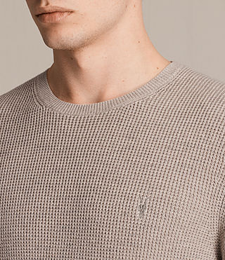 Mens Trias Crew Jumper (TAUPE MARL NEP) - product_image_alt_text_2