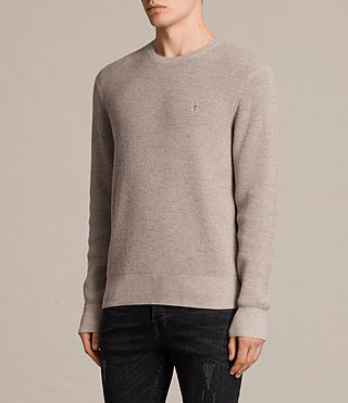 Mens Trias Crew Jumper (TAUPE MARL NEP) - product_image_alt_text_3
