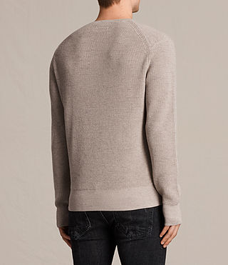 Hommes Trias Crew Jumper (TAUPE MARL NEP) - product_image_alt_text_4