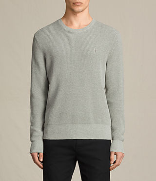 Mens Trias Crew Sweater (STONE GREEN MARL) - product_image_alt_text_1