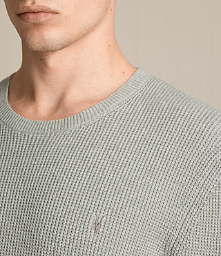 Mens Trias Crew Sweater (STONE GREEN MARL) - product_image_alt_text_2