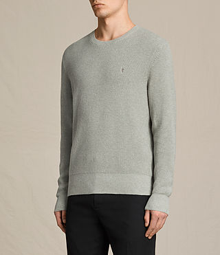 Hombres Trias Crew Jumper (STONE GREEN MARL) - product_image_alt_text_3