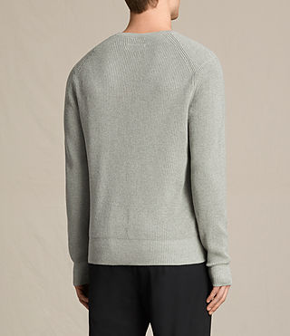 Hombres Trias Crew Jumper (STONE GREEN MARL) - product_image_alt_text_4