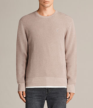 Men's Trias Crew Jumper (ROOT PINK MARL) -