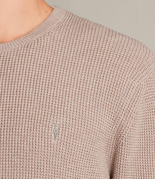 Men's Trias Crew Jumper (ROOT PINK MARL) - product_image_alt_text_2